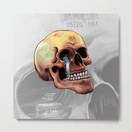 Zia Skull Metal Print