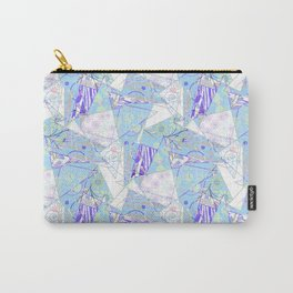 Abstract, floral, geometric pattern. Carry-All Pouch