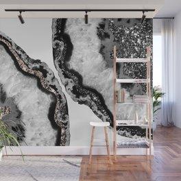 Yin Yang Agate Glitter Glam #1 #gem #decor #art #society6 Wall Mural