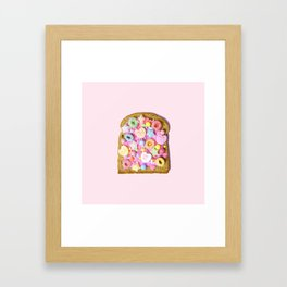Pink Sugar Toast Framed Art Print