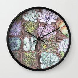 Succulents 1 Wall Clock