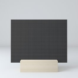 Black and white optical illusion Spots Lines and Squares Mini Art Print