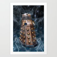 dalek Art Prints featuring Dalek by Steve Purnell