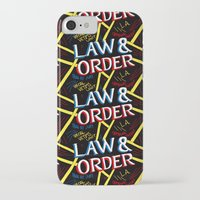 law iPhone & iPod Cases featuring LAW & ORDER by Josh LaFayette