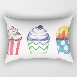 dot cupcakes (pointillism) Rectangular Pillow