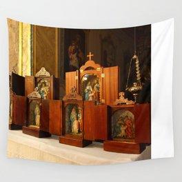 Holy Family shrines Wall Tapestry