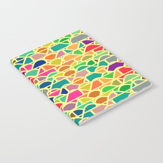 Bricks and waves in bright colors Notebook