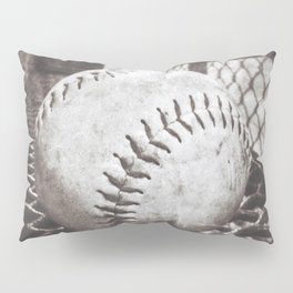 Softball on the Bench in Sepia Pillow Sham