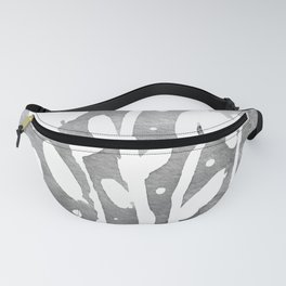 Whimsical watercolor flowers – black and white Fanny Pack