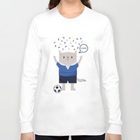 sports Long Sleeve T-shirts featuring Sports Cat by The Cat
