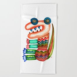 Tyrannosaurus Beach Towel