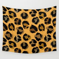 leopard Wall Tapestries featuring Leopard by Julia Badeeva