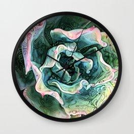 Echeveria Passion Wall Clock