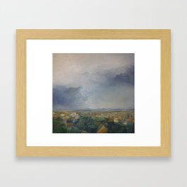 Three Birds in the Sky Framed Art Print