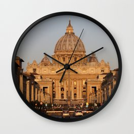 San Pietro at the sunrise Wall Clock