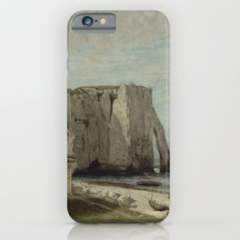 The Etretat Cliffs after the Storm by Gustave Courbet iPhone Case