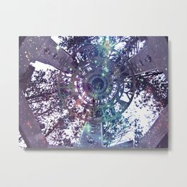 Beam Me Up into the Forest Metal Print