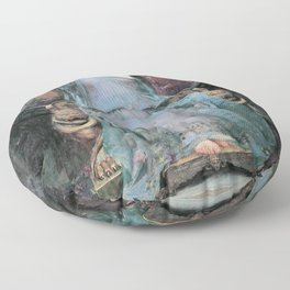 John William Waterhouse - Circe Offering The Cup To Odysseus - Digital Remastered Edition Floor Pillow