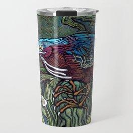 Green Heron Travel Mug