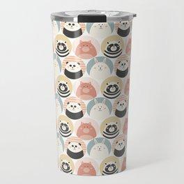 Round animal Travel Mug