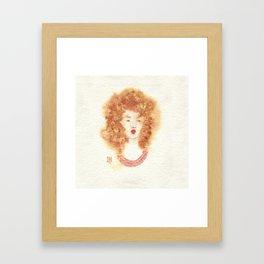 Fille Fondue Framed Art Print