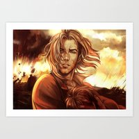 battlefield Art Prints featuring Battlefield by SirWendigo