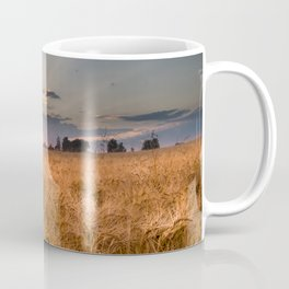 Sunset in grainfield Coffee Mug