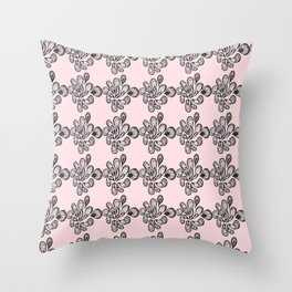 Soft pink ornament Throw Pillow