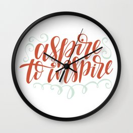 aspire to inspire Wall Clock
