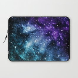 Purple Teal Galaxy Nebula Dream #1 #decor #art #society6 Laptop Sleeve
