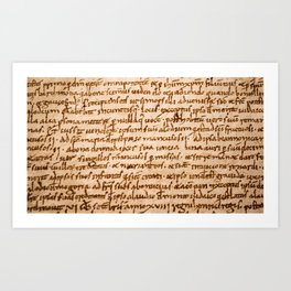 Handwritten script Art Print
