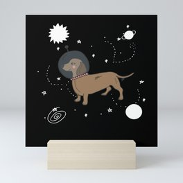 Dog Astronaut | Dachshund in Space Gift Mini Art Print