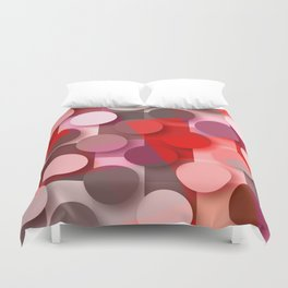 dots & squares red Duvet Cover