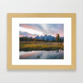 Grand Teton Sunset Framed Art Print