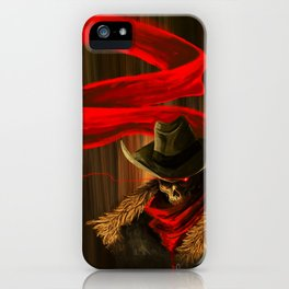 Skull Cowboy iPhone Case