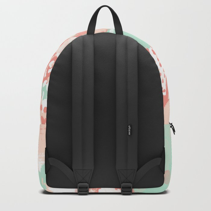 Poppy - minimal trendy gender neutral bright happy color palette nursery art Backpack