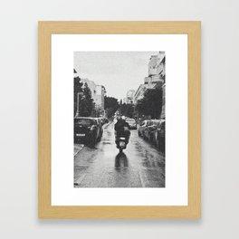 Couple in a Vespa Framed Art Print