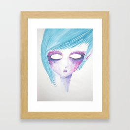 Light Blue Framed Art Print