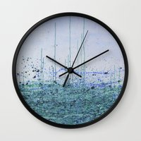 marina Wall Clocks featuring Marina by Katie Duker