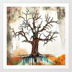 Tree of Many Colors Art Print