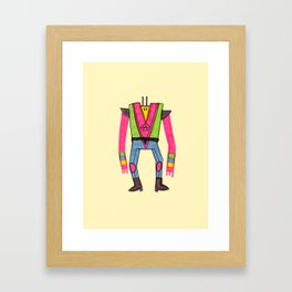 Colorful character 2 Framed Art Print
