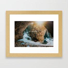 Magical light at Johnston Canyon Framed Art Print