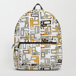 Tetris monsters yellow and grey Backpack