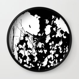 Abstract Black and White Rorschach Wall Clock