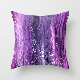 Under The Purple Sea Throw Pillow