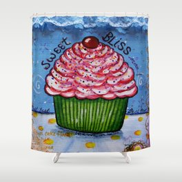 Cupcake, Cupcake Art, Mixed Media, by Faye Shower Curtain