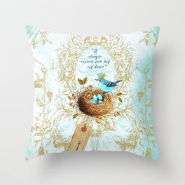My nest is beautiful Throw Pillow