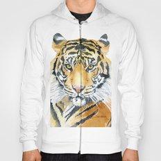 Tiger Watercolor Painting Hoody