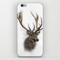stag iPhone & iPod Skins featuring stag by emegi
