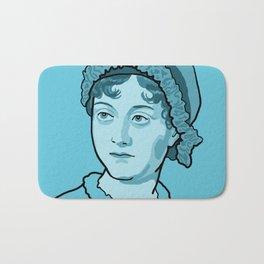 Jane Austen Blue Bath Mat